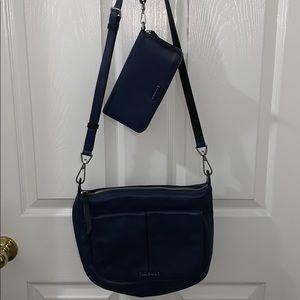 EUC Navy Blue Carson Shoulder Bag with wallet